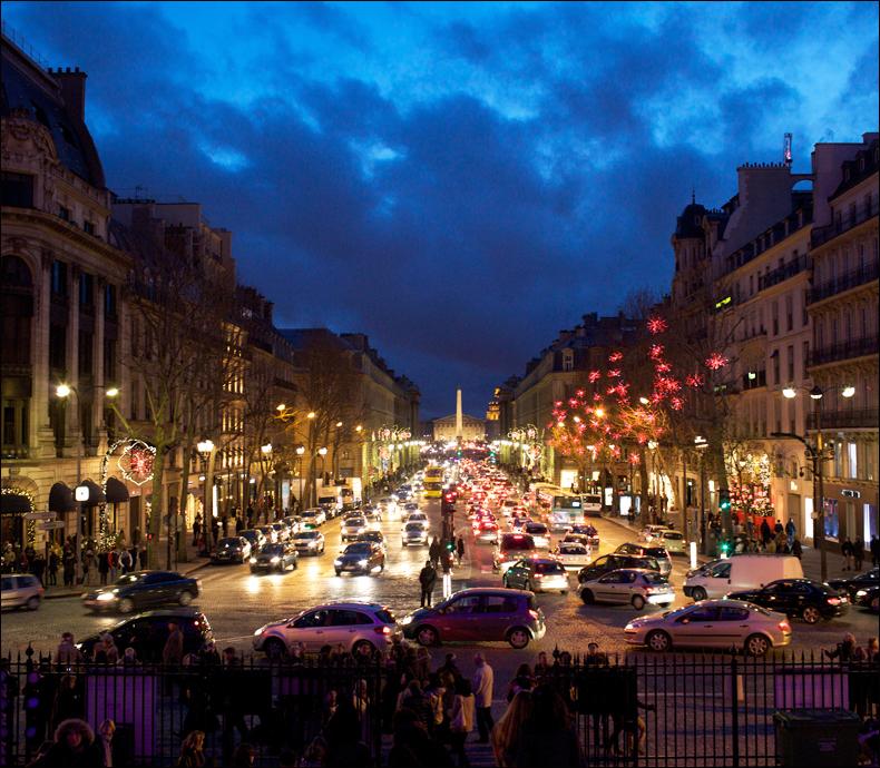 L'heure bleue at Place de la Madeleine; Steve Sampson
