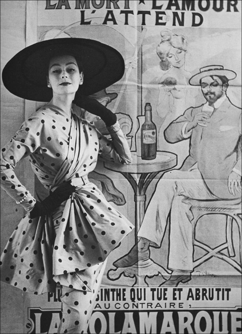 Photo by Henry Clark, dress Jacques Fath, Condé Nast