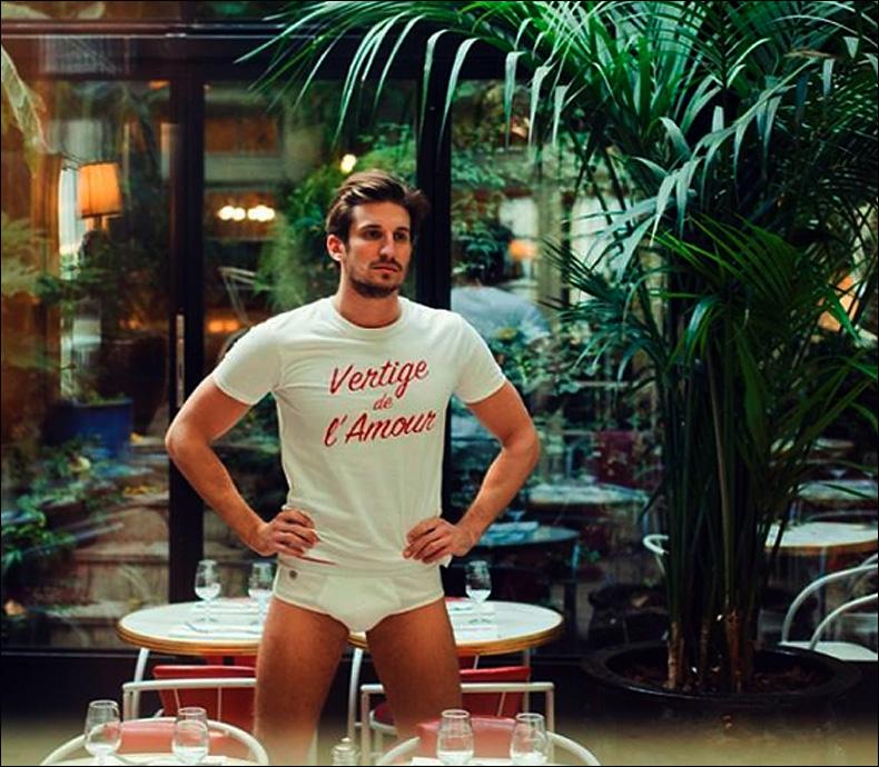 Nicolas models a Kulte collaboration; Le Slip Français