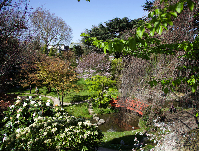 Albert Kahn garden, April; pic: Steve Sampson