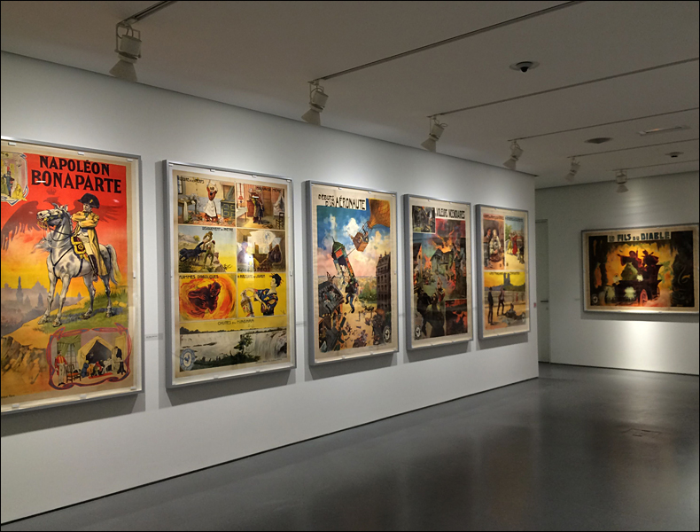 Posters by de Faria at Fondation Jérôme Seydoux-Pathé; pic: Cynthia Rose