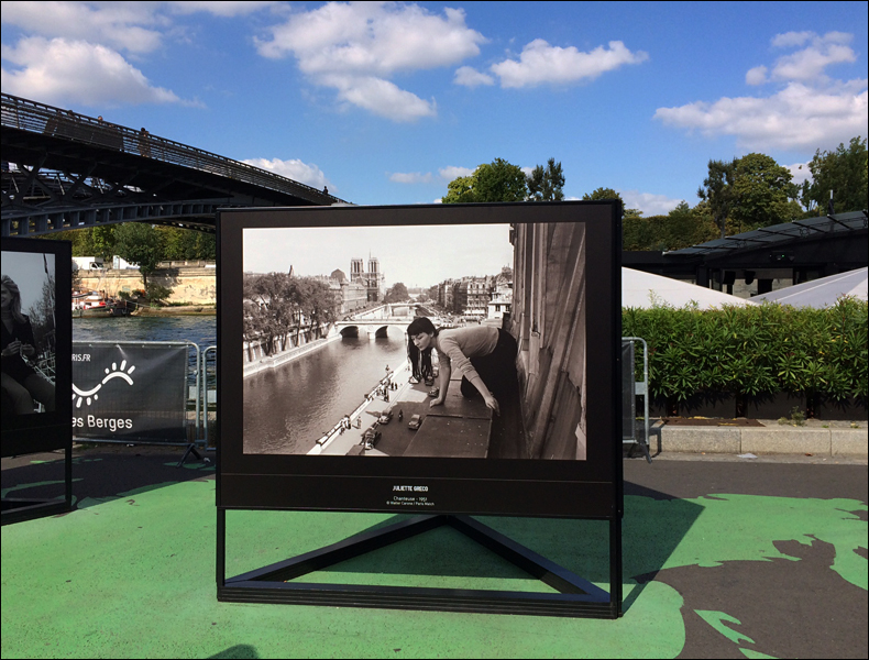 Paris Match expo (Juliette Greco), les Berges de Seine; pic: Cynthia Rose