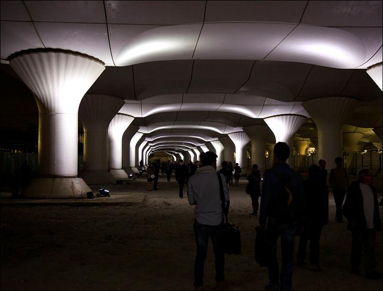 Pablo Valbuena, 'Kinematope', Gare d'Austerlitz: pic: Steve Sampson