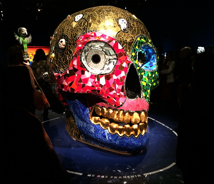 Death's head, Niki de Saint Phalle; pic; Cynthia Rose