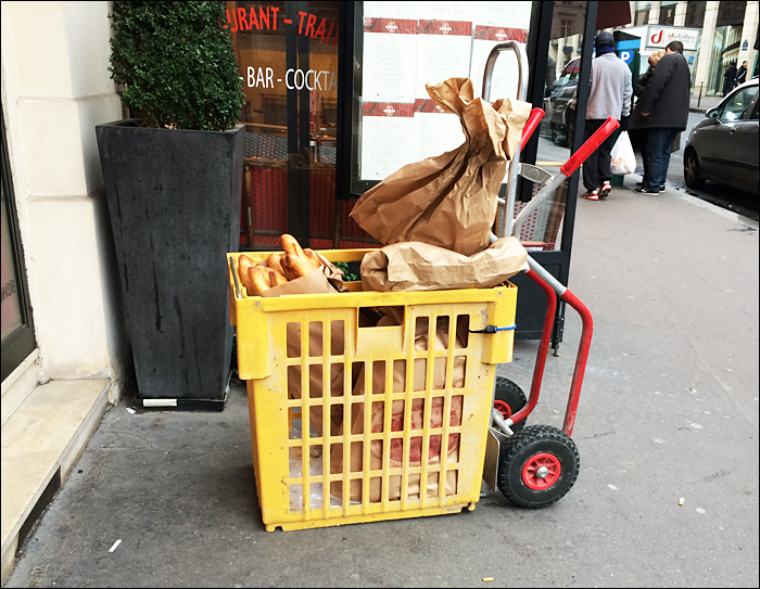The daily bread delivery, every day; pic: Cynthia Rose