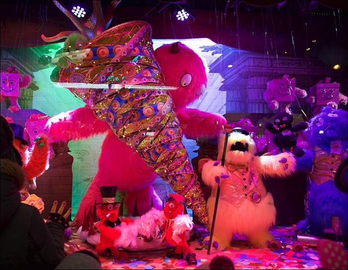 """""""Monster Noêl"""" at Galeries Lafayette; pic; Steve Sampson"""