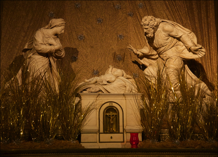 The crèche at St Roch, front view; pic: Steve Sampson