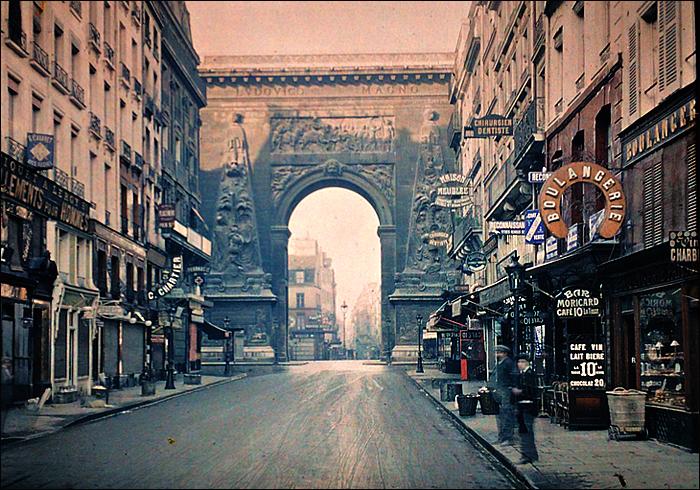 Porte Saint-Denis, 1900; pic: Stéphane Passet © Musée Albert Kahn