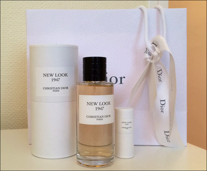 """New Look 1947"" perfume by Dior; available at Galeries Lafayette"