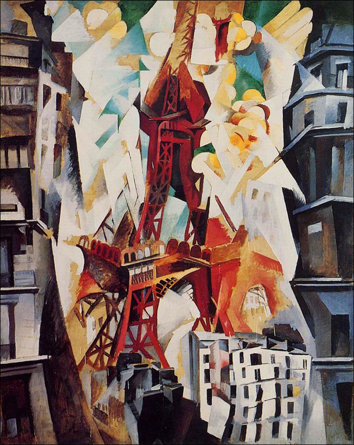 Robert Delaunay's Eiffel Tower series