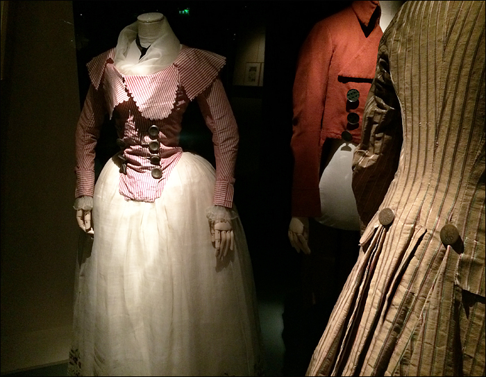 Mid-18th century wear at 'Deboutonner la Mode', Les arts décoratifs' pic: Cynthia Rose